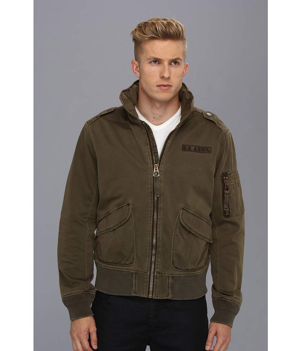 Image of Authentic Apparel - U.S. Army The Airland Bomber (Major Brown) Men's Coat