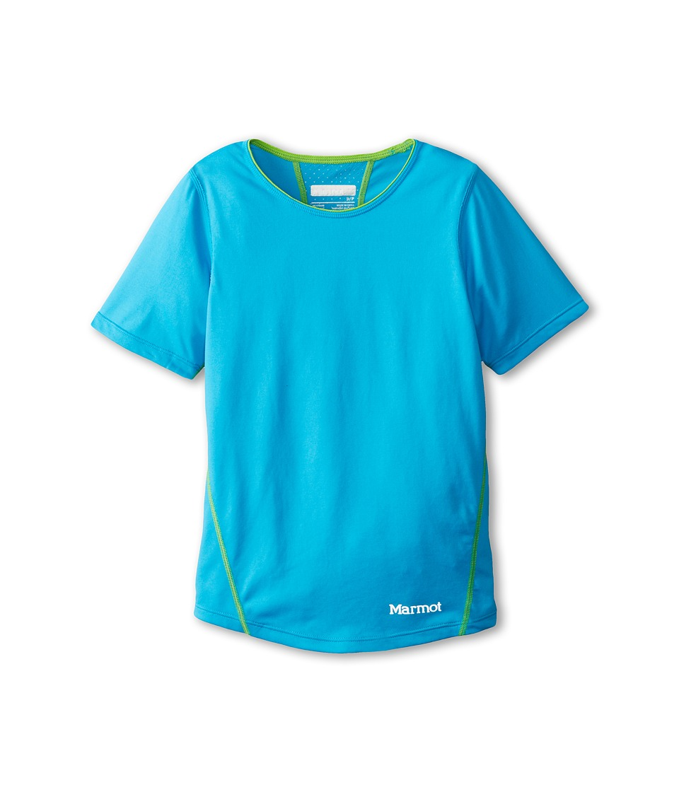 Marmot Kids - Essential S/S (Little Kids/Big Kids) (Atomic Blue) Girl
