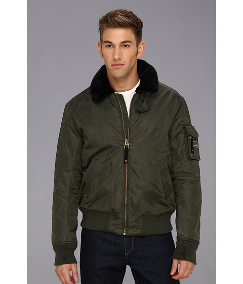 Authentic Apparel - U.S. Army Airborne Flight Bomber (Olive Brush) Men's Jacket