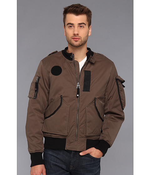 Authentic Apparel - U.S. Army Ultimate Bomber Jacket (Brown Olive) Men's Jacket