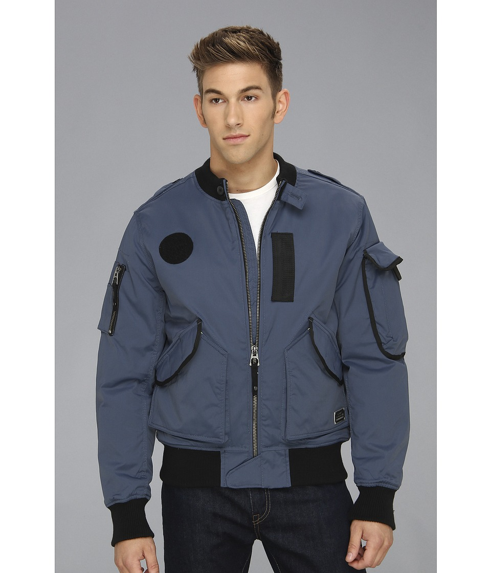 Authentic Apparel - U.S. Army Ultimate Bomber Jacket (Blue) Men