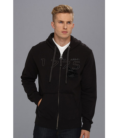 Authentic Apparel - U.S. Army The 1775 Hoodie (Black) Men's Sweatshirt