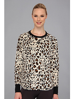 SALE! $14.99 - Save $35 on P.J. Salvage Pop of Pink Leopard Thermal Sleep Top (Natural) Apparel - 70.02% OFF $50.00
