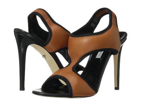 Diane von Furstenberg - Urban (Brandy Nappa/Black Elastic) High Heels