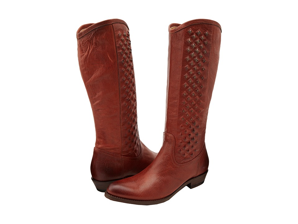 Frye - Rider Pyramid Pull On (Whiskey Soft Vintage Leather) Women's Pull-on Boots