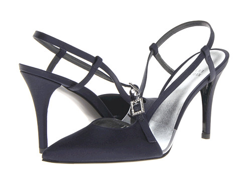 Stuart Weitzman Bridal & Evening Collection - Globiased (Navy Satin) Women
