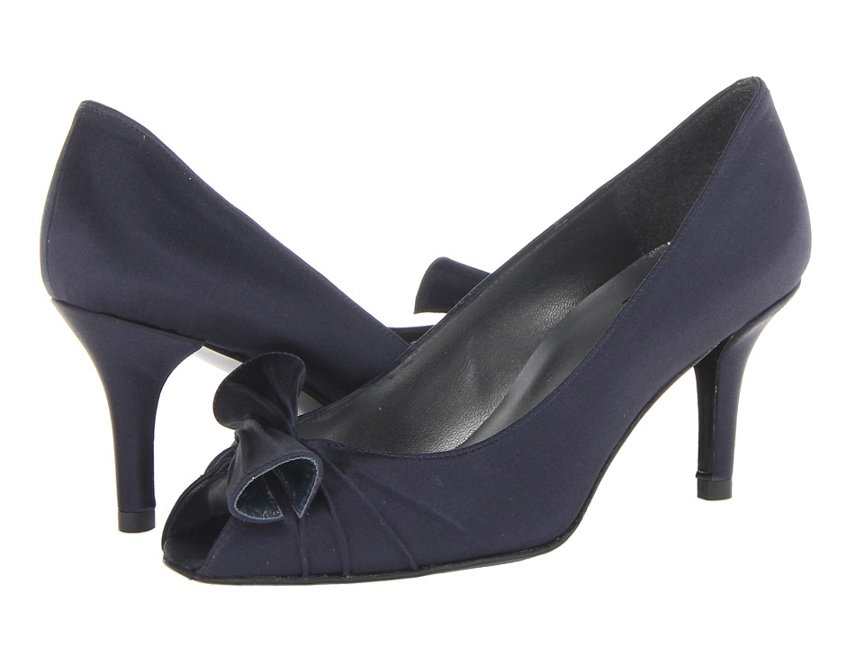 Stuart Weitzman Bridal & Evening Collection - Knot (Navy Satin) Women's 1-2 inch heel Shoes