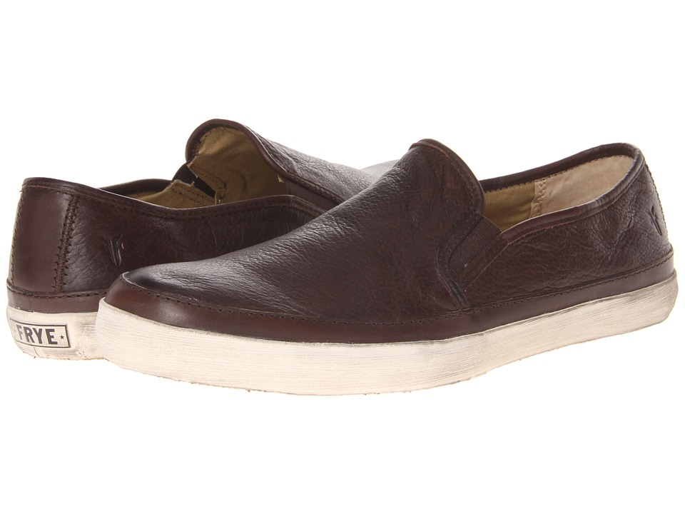 Frye - Gavin Slip On (Dark Brown Soft Vintage Leather) Men's Slip on Shoes
