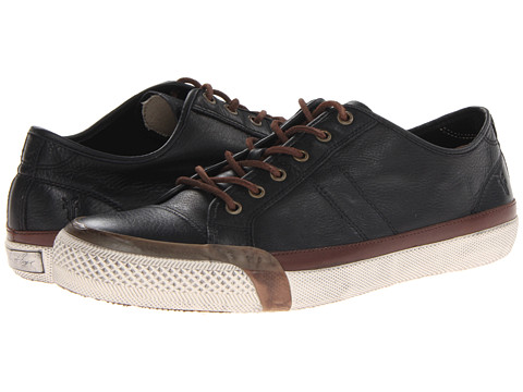 Frye - Greene Low Lace (Black Soft Vintage Leather) Men