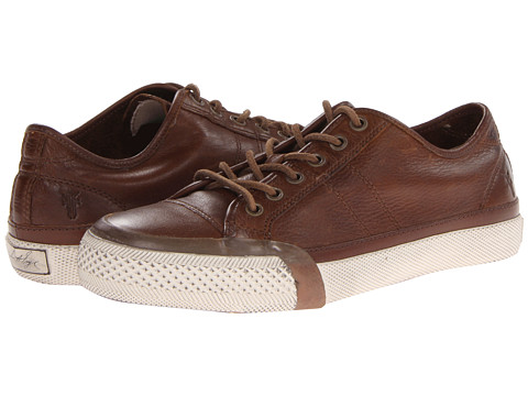 Frye - Greene Low Lace (Cognac Soft Vintage Leather) Men