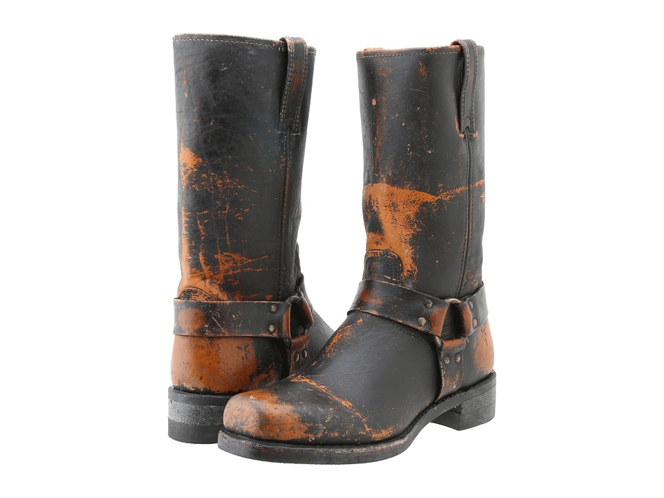 Frye - Harness 12R (Whiskey Painted Stonewash) Cowboy Boots