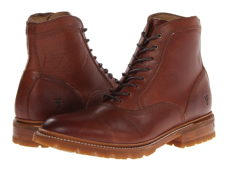 Frye - James Bal Lug (Redwood Smooth Full Grain) Men
