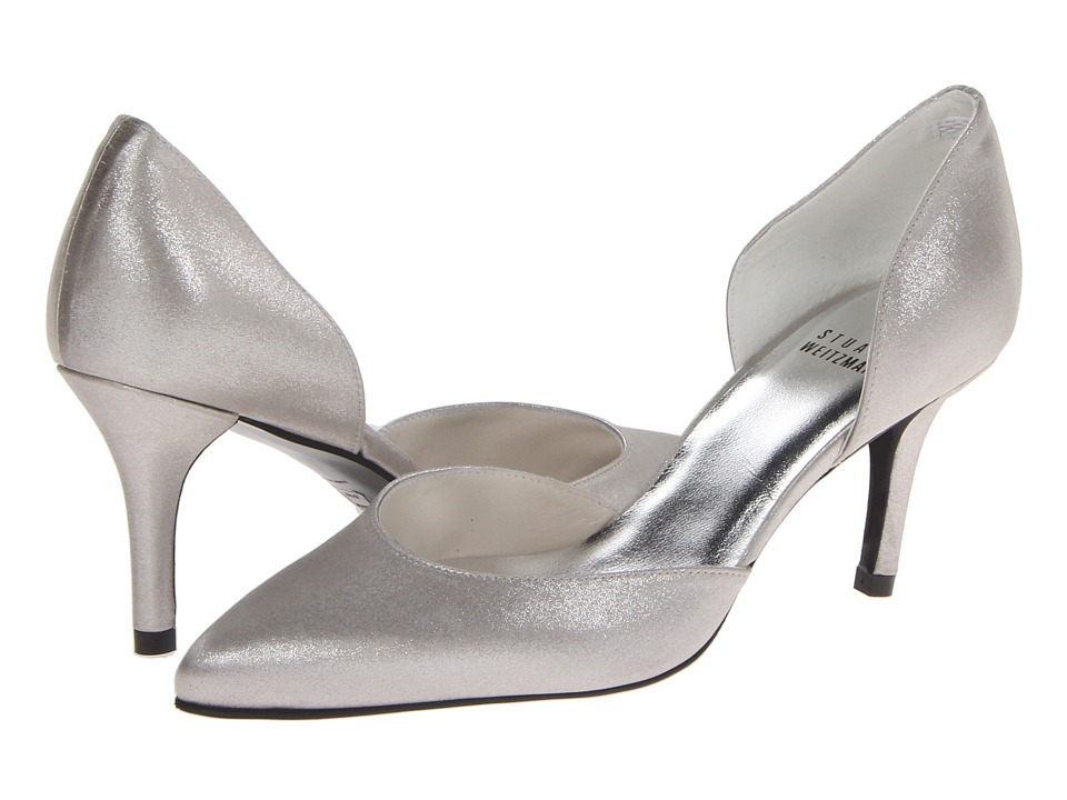 Stuart Weitzman Bridal & Evening Collection Twice (Chrome Raso) High Heels