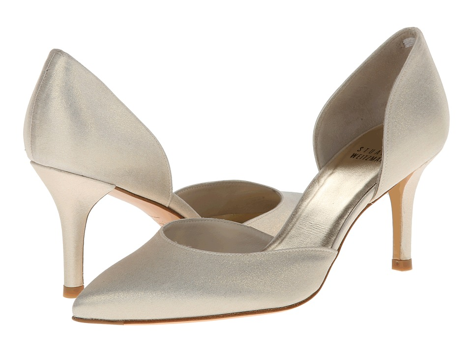 Stuart Weitzman Bridal & Evening Collection Twice (Platinum Raso) High Heels