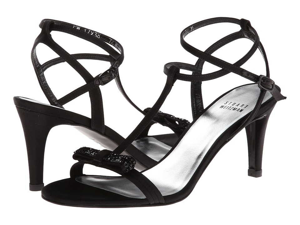 Stuart Weitzman Bridal & Evening Collection Zesty (Black Satin) High Heels