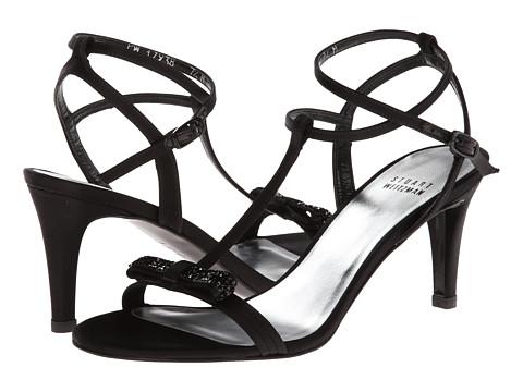 Stuart Weitzman Bridal & Evening Collection - Zesty (Black Satin) High Heels