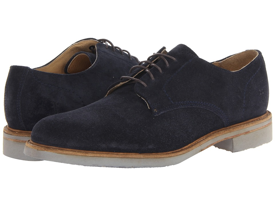Frye - Jim Oxford (Indigo Suede) Men's Plain Toe Shoes