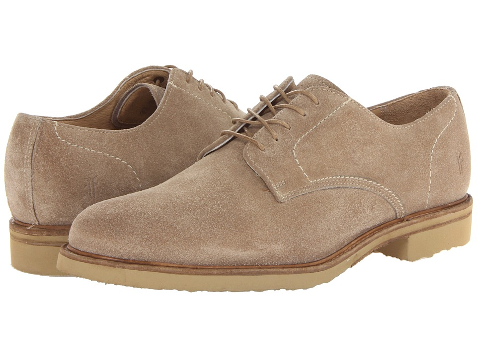 Frye - Jim Oxford (Sand Suede) Men's Plain Toe Shoes
