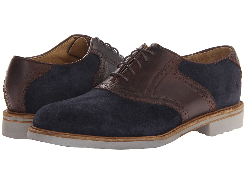 Frye - Jim Saddle (Indigo/Dark Brown Suede) Men