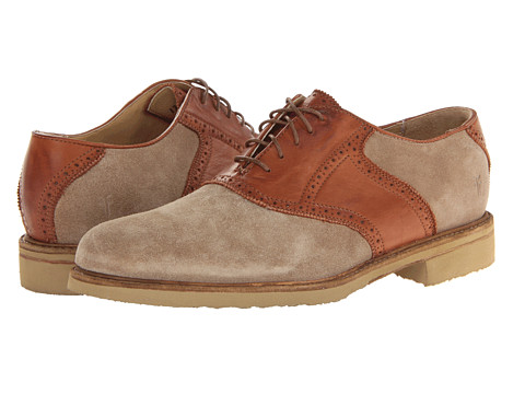 Frye - Jim Saddle (Sand/Navy Suede) Men