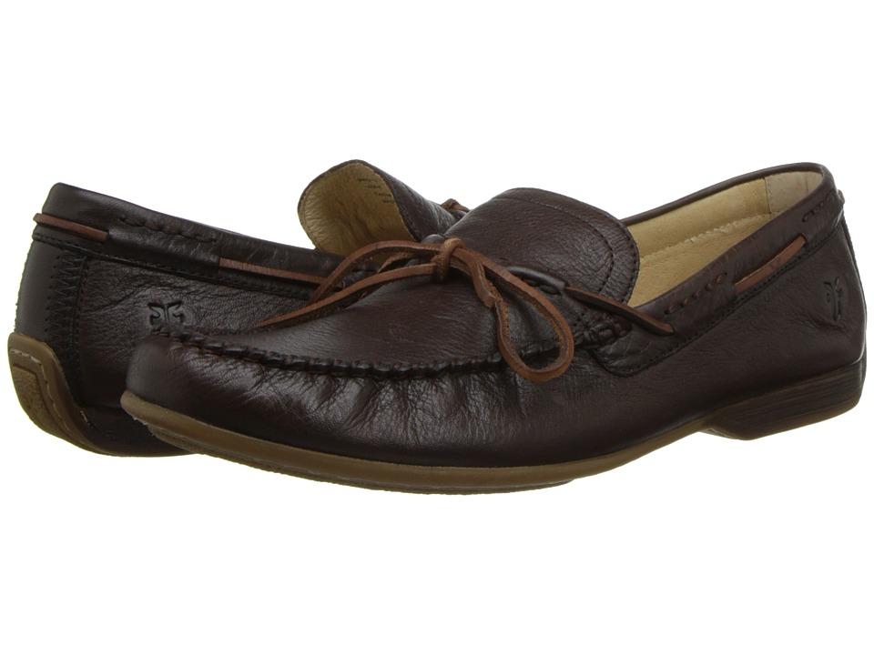 Frye - Lewis Tie (Chocolate Soft Pebbled Full Grain Leather) Men