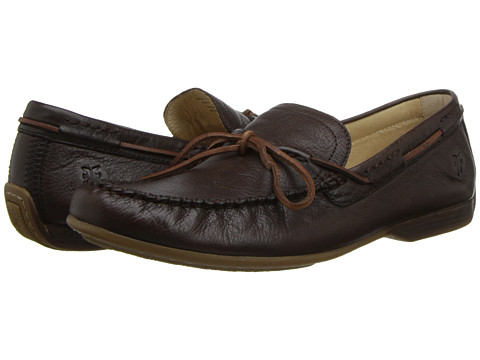 Frye - Lewis Tie (Chocolate Soft Pebbled Full Grain Leather) Men