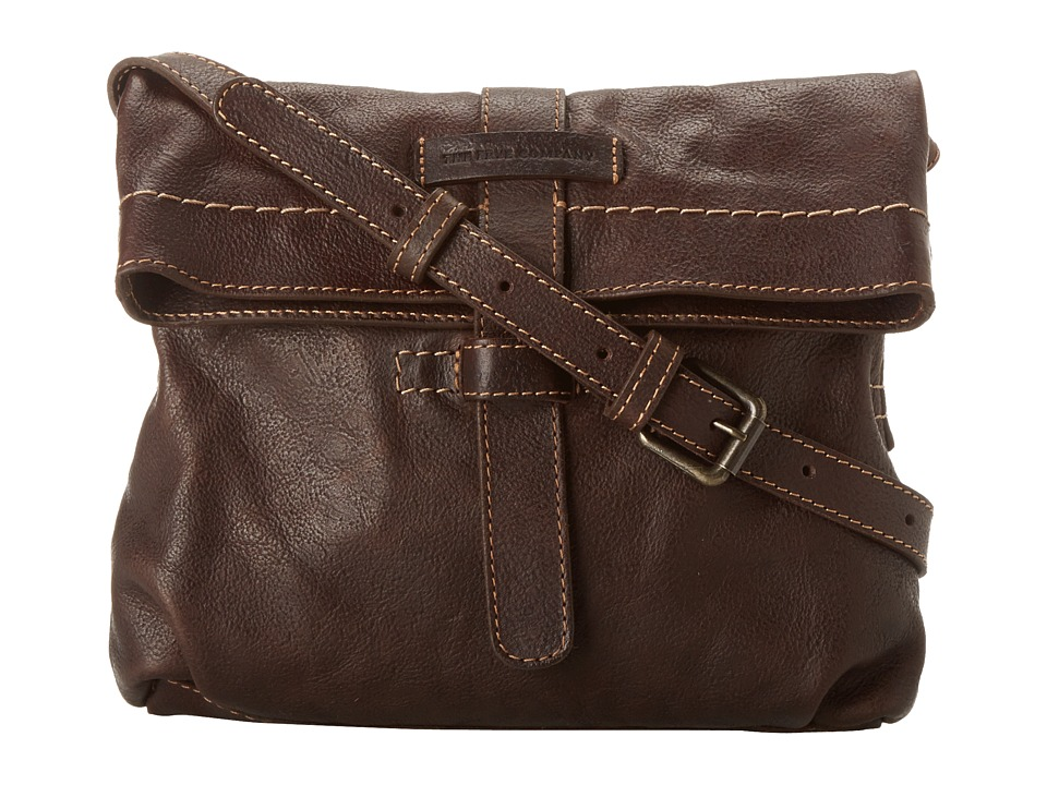 Frye - Artisan Fold Over (Dark Brown Hammered Full Grain) Cross Body Handbags