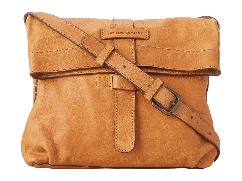 Frye - Artisan Fold Over (Natural Hammered Full Grain) Cross Body Handbags