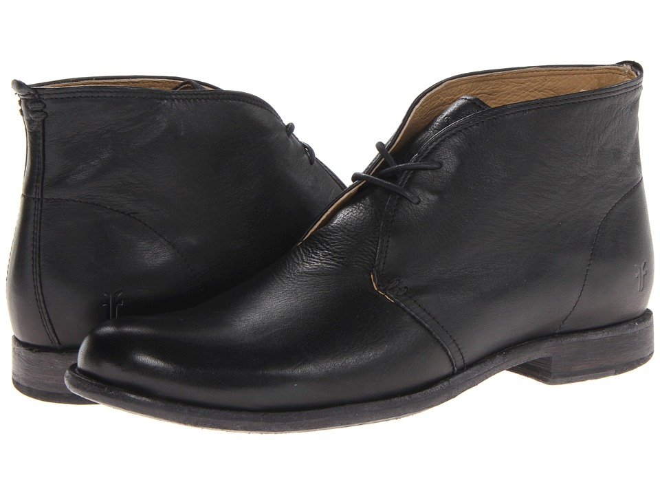 Frye - Phillip Chukka (Black Soft Vintage Leather) Men's Lace-up Boots