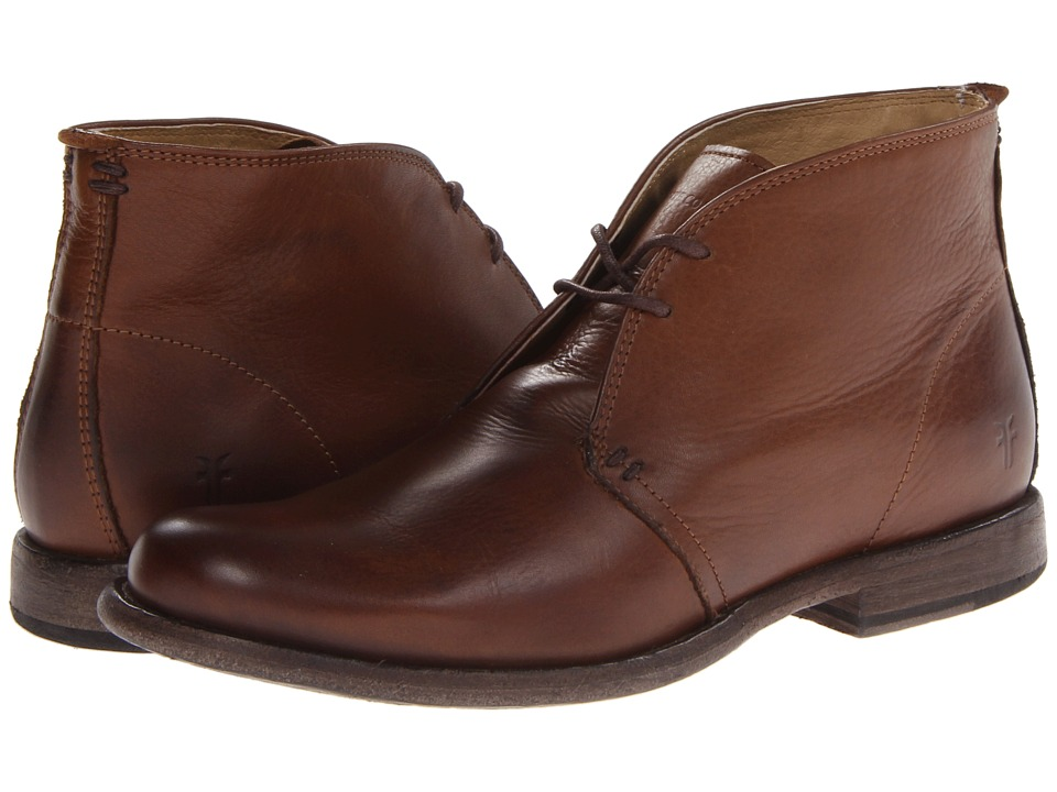 Frye - Phillip Chukka (Cognac Soft Vintage Leather) Men's Lace-up Boots