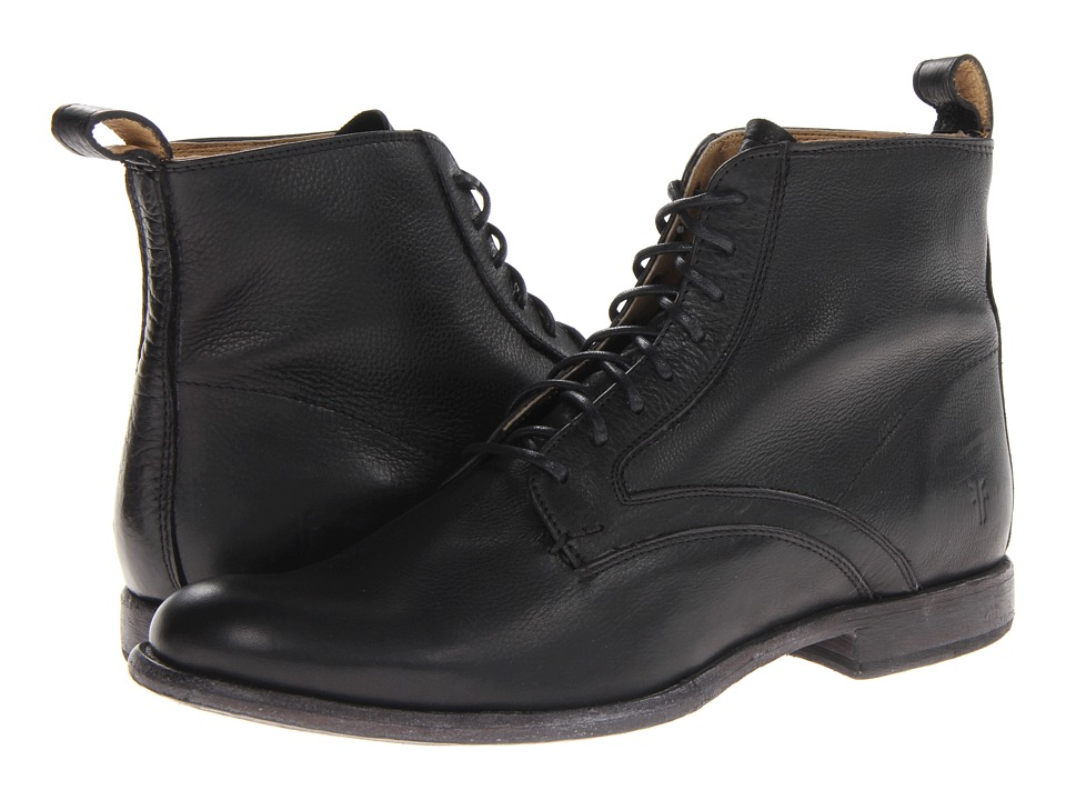 Frye - Phillip Lace Up (Black Soft Vintage Leather) Men's Pull-on Boots