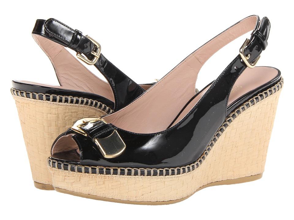 Stuart Weitzman - Chatroom (Black Patent) Women's Wedge Shoes