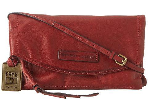Frye - Jenny Convertible Crossbody (Burnt Red Soft Vintage Leather) Handbags