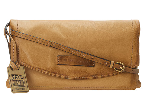 Frye - Jenny Convertible Crossbody (Camel Soft Vintage Leather) Handbags