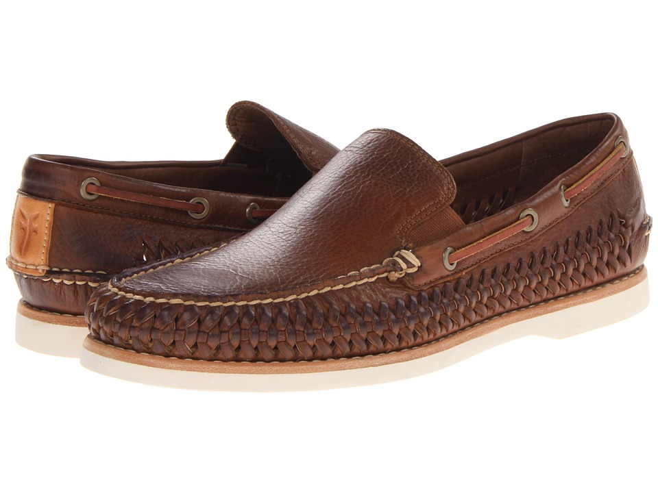 Frye - Sully Woven Venetian (Cognac Soft Vintage Leather) Men