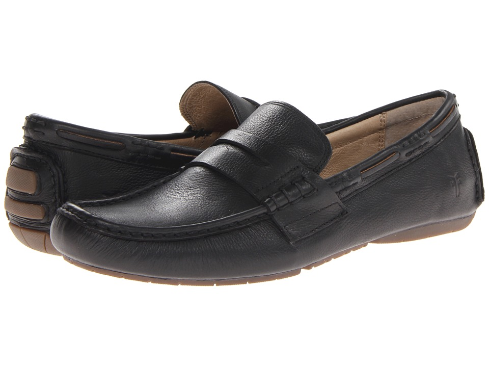 Frye West Penny (Black Soft Vintage Leather) Men