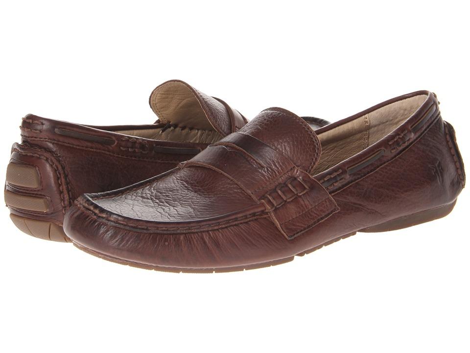 Frye - West Penny (Dark Brown Soft Vintage Leather) Men