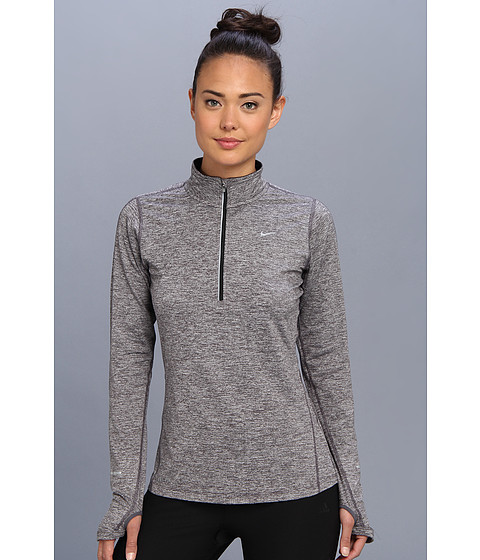 Nike - Element Half-Zip (Dark Grey/Heather/Black/Reflective Silver) Women's Long Sleeve Pullover