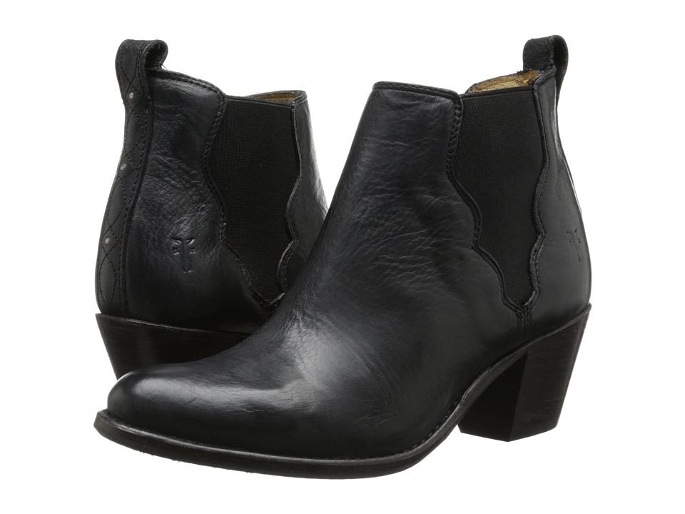 Frye - Jackie Gore Stitching Horse (Black Dakota) Cowboy Boots