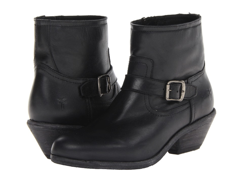 Frye - Lana Ankle Strap Boot (Black Antique Pull Up) Cowboy Boots