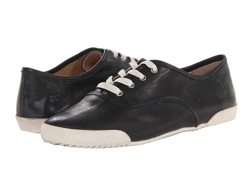 Frye - Melanie Low (Black Antique Soft Vintage) Women's Lace up casual Shoes