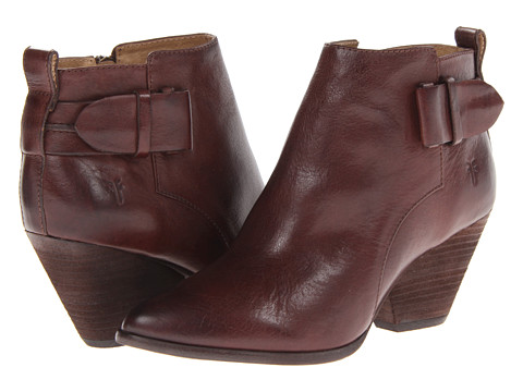 Frye - Reina Belt Bootie (Brown Tumbled Full Grain) Cowboy Boots