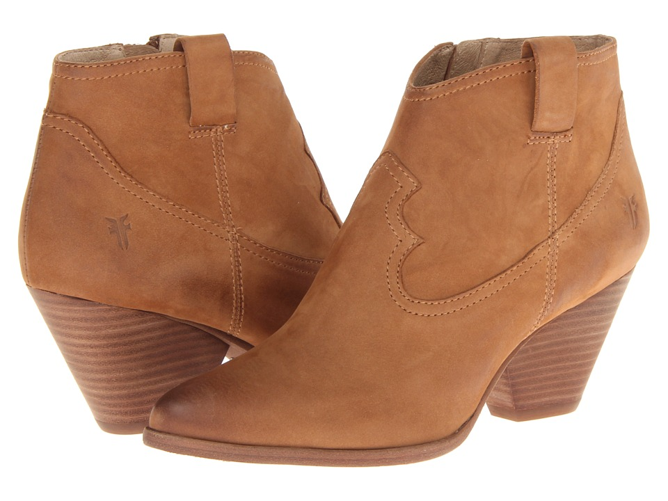 Frye - Reina Bootie (Camel Buffed Nubuck) Cowboy Boots