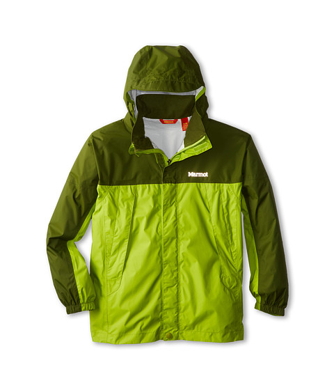 Marmot Kids - PreCip Jacket (Little Kids/Big Kids) (Green Lichen/Greenland) Boy