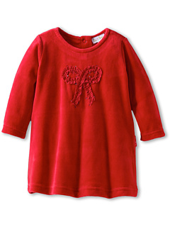 SALE! $14.99 - Save $23 on le top Soft And Sweet Velour Dress With Bow Sequins Ruching (Newborn Infant) (Red) Apparel - 60.55% OFF $38.00