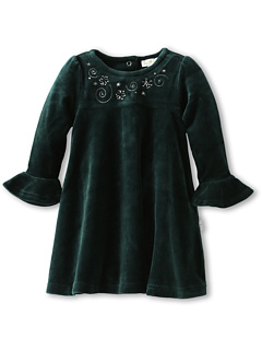 SALE! $16.99 - Save $37 on le top Swirls Stars Velour Dress (Infant Toddler Little Kids) (Teal) Apparel - 68.54% OFF $54.00