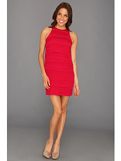 SALE! $116.99 - Save $213 on Nicole Miller Tiered Georgette Dress (Cranberry) Apparel - 64.55% OFF $330.00