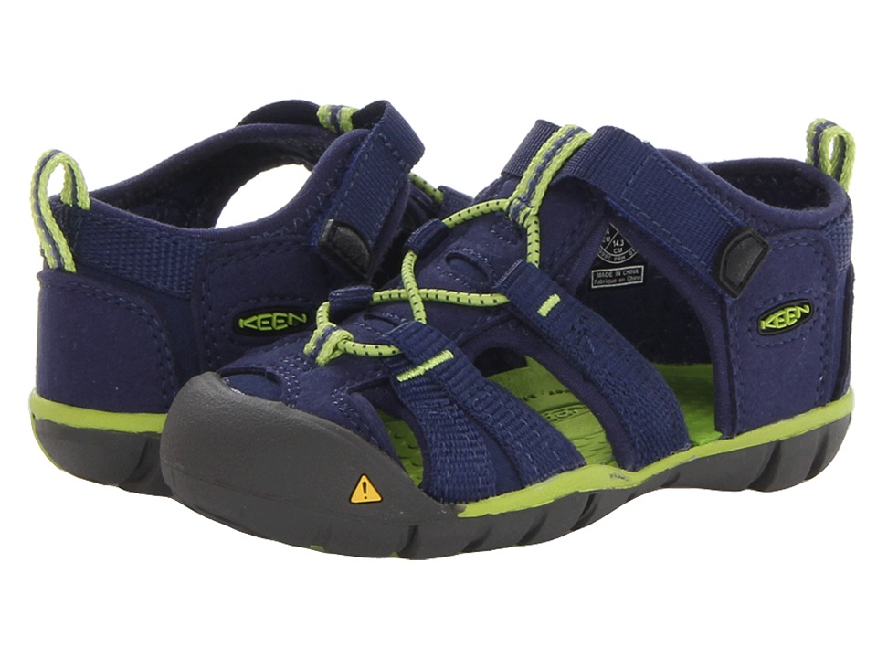 Keen Kids - Seacamp II CNX (Toddler) (Blue Depths/Lime Green) Boys Shoes