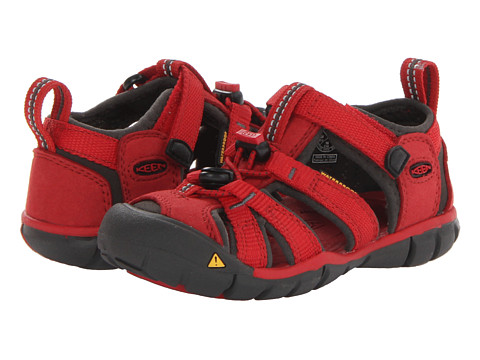 Keen Kids - Seacamp II CNX (Toddler/Little Kid) (Tango Red/Raven) Kids Shoes