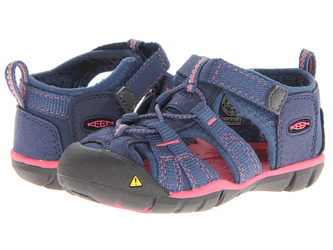 Keen Kids - Seacamp II CNX (Toddler) (Ensign Blue/Camellia Rose) Girls Shoes